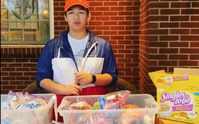 Tips on organizing a neighborhood snack bag drive.
